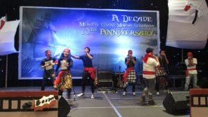 Pertunjukkan tari-tarian HUT ke 10 Hotel Mercure Grand Mirama Surabaya
