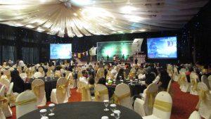 Suasana acara HUT ke-10 hotel Mercure Grand Mirama Surabaya