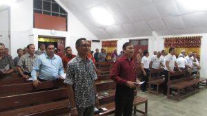 Suasana ibadah bersama dalam rangka HUT ke - 36 Persekutuan Kaum Bapak MUPEL Jawa Timur