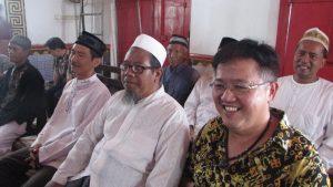Para undangan yang hadir dalam acara refleksi keberagaman di Klenteng Boen Bio Surabaya pada hari Minggu (11/3/2018)