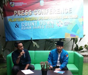 Konferensi Pers pelantikan pengurus DPD Komite Nasional Pemuda Indonesia Jawa Timur Propinsi Jawa Timur, Sabtu (14/07) di Surabaya