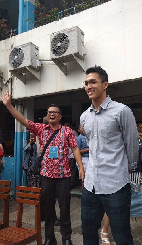 Jonatan Christie saat mini talkshow di SDK Antonius Jakarta Timur pada hari Minggu (2/9/2018)