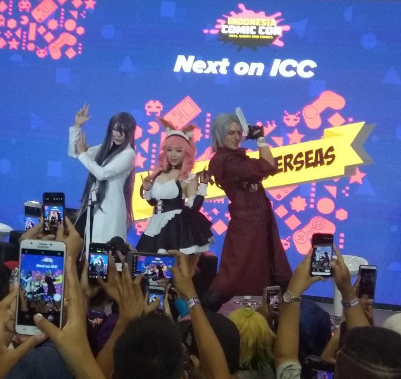 Leon Chiro,King Tw,Chihiro Chang Merupakan Cosplayer Dari Italia dan Taiwan turut meriahkan Indonesia Comic Con 2018