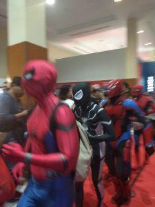Para Cosplayer Spider-Verse turut ramaikan Indonesia Comic Con 2018