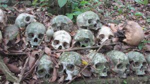 Salah satu lokasi di kuburan Trunyan Pemakaman Leluhur Kuno