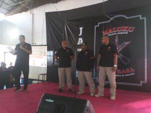 David Sinay (posisi kanan) terpilih sebagai ketua Maluku 1 Rasa