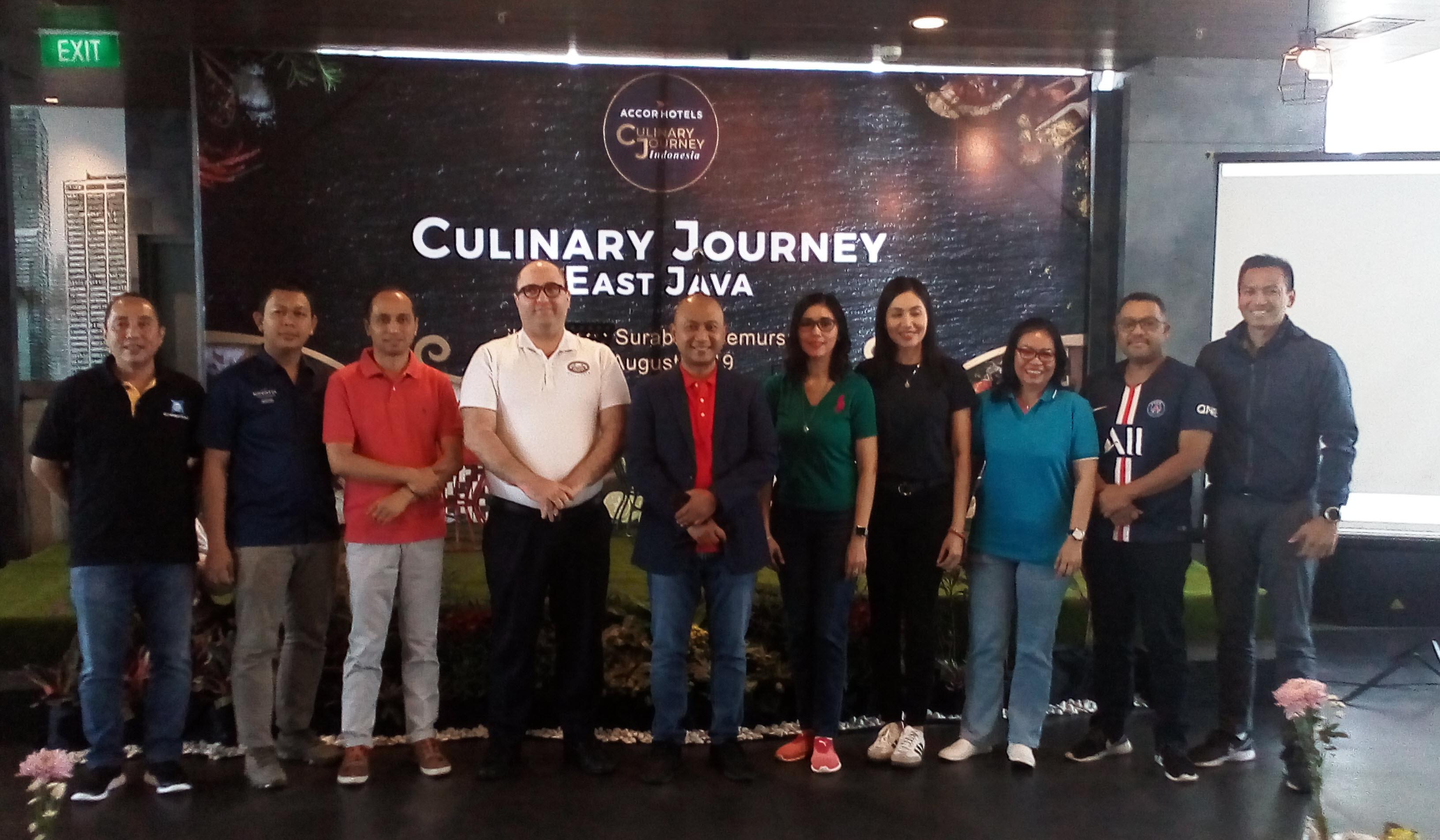 Para General Manager Accor Management Group Regional Jawa Timur berkumpul bersama dalam acara Culinary Journey East Java 2019