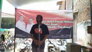 Sosialisasi Visi Misi Pasangan Calon Walikota dan Wakil Walikota Surabaya Eri Cahyadi dan Armuji pada hari Minggu 11 Oktober 2020