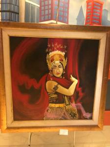 Lukisan Penari Gandring karya Ida Fitriah