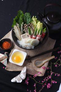 Sukiyaki salah satu menu pada Origami Roof Dining Hotel GranDhika Iskandarsyah Jakarta