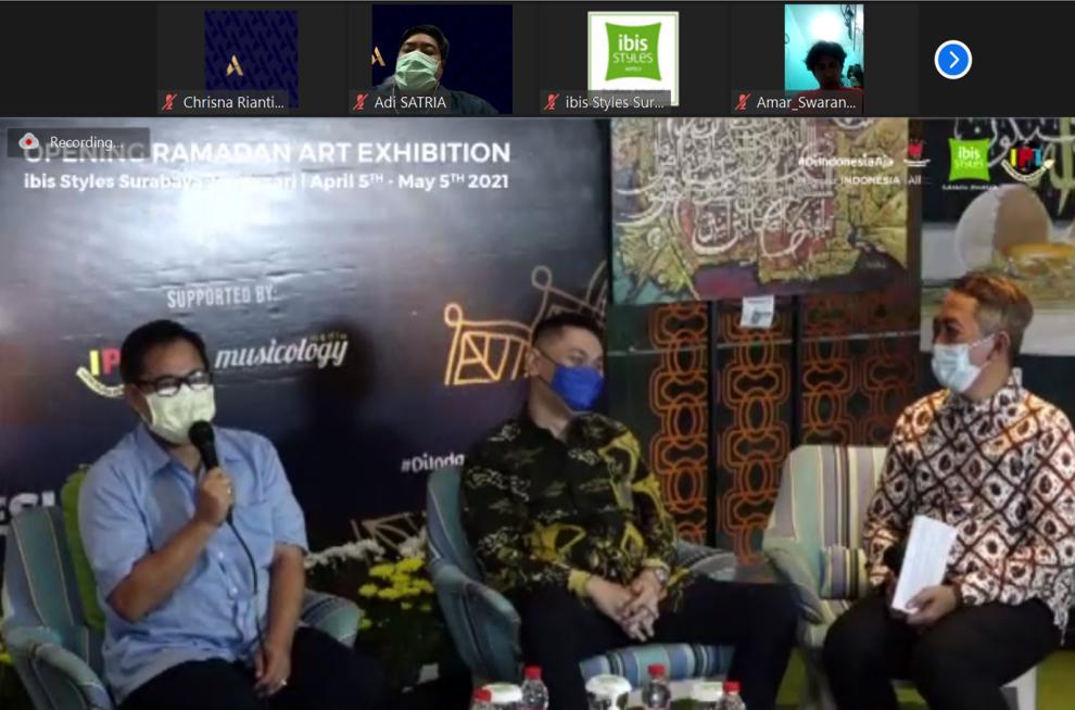Pembukaan Ramadan Art Exhibition secara daring dilakukan oleh Ibis Styles Hotel Jemursari Surabaya